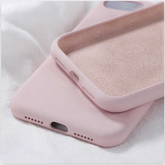 Silicone Case For All iPhone , Soft Liquid Silicone Slim Rubber Protective Phone Case Cover (With Soft Microfiber Lining) Compatible With  Iphone