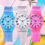 Fashion 8 Color Transparent Jelly Silicone Watch Men Women Seaside Holiday Waterproof Sports Wrist Watch Couple Watches