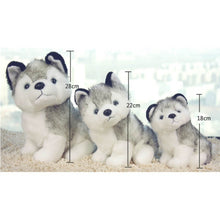 Load image into Gallery viewer, 18cm/22cm/28cm Super Cute Husky Puppy Dogs Stuffed Doll Plush Toys Simulation Husky Dogs Kids Toys Appease Doll