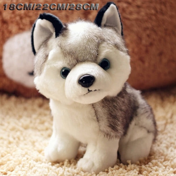 18cm/22cm/28cm Super Cute Husky Puppy Dogs Stuffed Doll Plush Toys Simulation Husky Dogs Kids Toys Appease Doll
