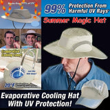 Magic!!! Outdoor Summer Cooling Hats Sunscreen Anti High Temperature Hat Unisex Air Conditioning Caps with UV Protection