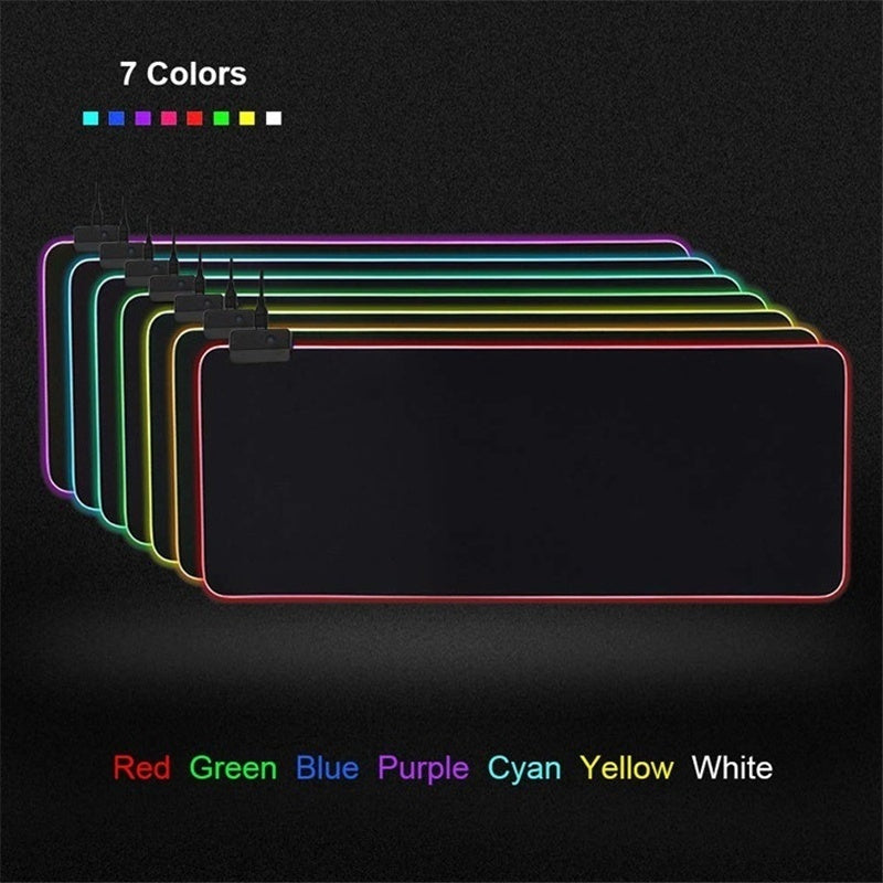 New Large RGB Colorful LED Lighting Gaming Mouse Pad Keyboard pad for PC Laptop