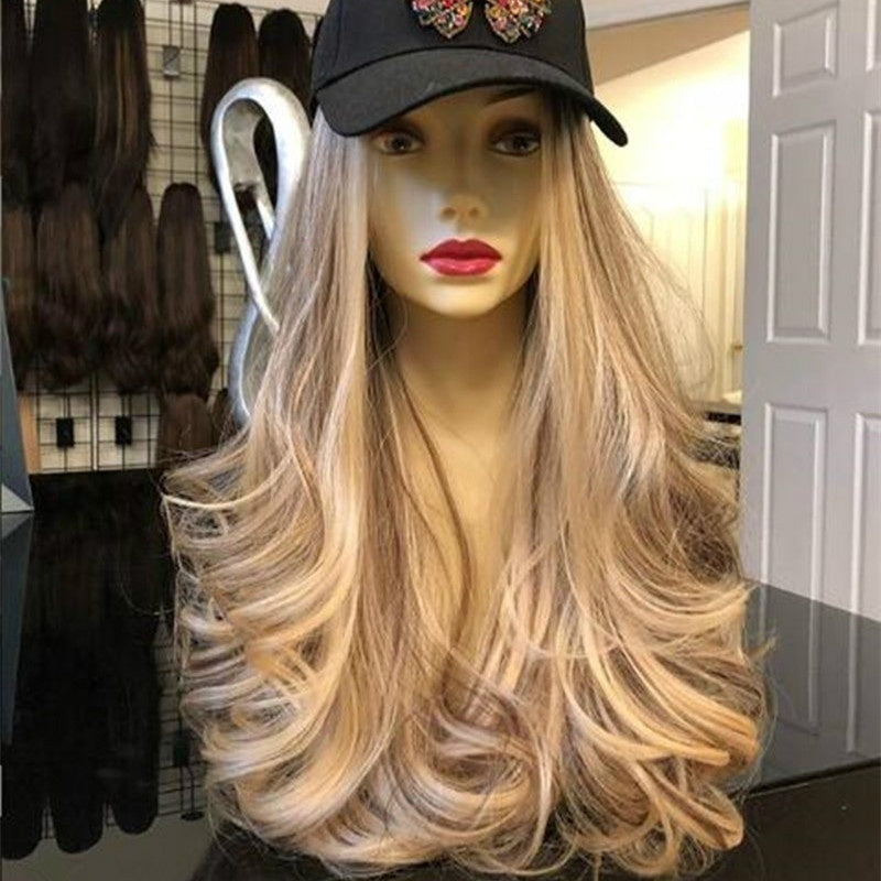 New Women High Temperature Synthetic Lace Front Wigs Platinum Blonde Wig Long Curly Wave Wig Hair
