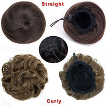 Load image into Gallery viewer, Clip In Curly Synthetic Hair Pieces Chignon Updo Cover Hairpiece Extension Hair Bun