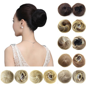 Clip In Curly Synthetic Hair Pieces Chignon Updo Cover Hairpiece Extension Hair Bun