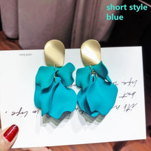 Load image into Gallery viewer, Sex Red White Rose Flower Statement Earrings Long Tassel Drop Earrings for Women Fashion Jewelry