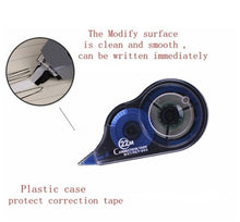 Load image into Gallery viewer, 2Pcs Student Stationery Push Correction Tape Ultra-thin Films Altered School 22mx5mm - 0.2' x 866', White Tape