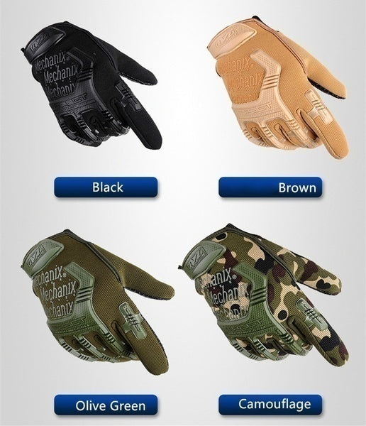 Army Combat Tactical Full Finger Gloves Men Camouflage Paintball Military Gloves SWAT Soldier Shoot Bicycle Mittens Locomotive Gloves