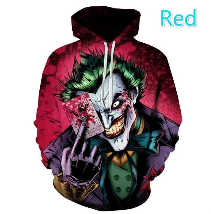 2020 Newest Fashion Men Women Clown Rebirth Series 3D Digital Printing Space Cotton Hooded Sweaters