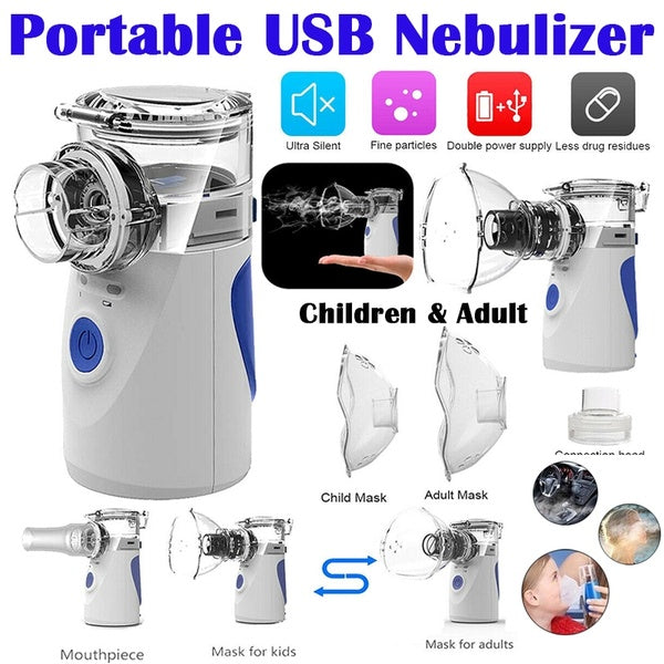 Portable USB Nebulizer Medical Ultrasonic Nebulizer Asthma Inhaler Atomizer for Children Adult Rechargeable