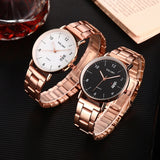 Women Stainless Steel Watch Date Calendar Quartz Wrist Watches Business Casual Watch For Ladies Clock Reloj Mujer