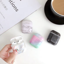 Load image into Gallery viewer, Newest Stylish Marble Pattern Hard PC Case Protector for Airpods Wireless Earphone Earbuds Airpods Case