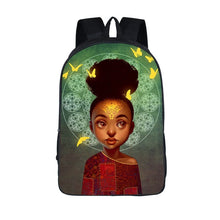 Load image into Gallery viewer, Afro Princess Girl Backpack Children School Bags For Teenager School Backpack Women Book Bag