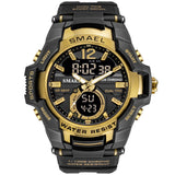 SMAEL Men Watches Fashion Sport Super Cool Quartz LED Digital Watch 50M Waterproof Wrist Watches Men's Clock Relogio Masculino