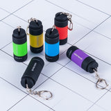 Waterproof USB Rechargeable LED Light Flashlight Lamp Pocket Keychain Mini Torch
