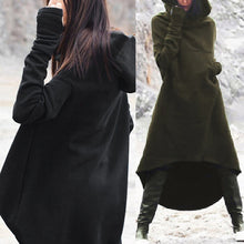 Load image into Gallery viewer, Fashion Women Oversized Hooded Long Sleeve Dress Fleece Sweatshirt Dress Midi Dresses Plus Size