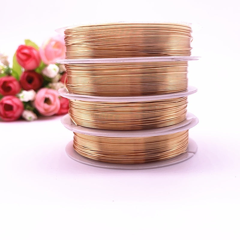 NEW 0.3/0.4/0.5/0.6//0.8/1.0 Mm Color Retention Copper Wires Beading Wire for Jewelry Making, Gold/Copper and Silver Colors