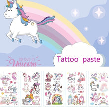 Load image into Gallery viewer, 10Pcs/Set Waterproof Temporary Unicorn Tattoos Paste Body Art Water Transfer Fake Tattoos Party Supplies For Children Adult Special