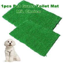 Load image into Gallery viewer, 1 Pc M or L Artificial Pet Dog Grass Toilet Mat Indoor Potty Trainer Grass Turf Patch Pad Pet Supplies