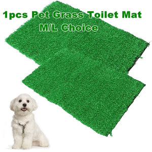 1 Pc M or L Artificial Pet Dog Grass Toilet Mat Indoor Potty Trainer Grass Turf Patch Pad Pet Supplies