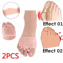 Load image into Gallery viewer, 2PCS Elastic Splitter Protector Bunion  Toe Corrector Pain Relief Toe Separator Foot Care