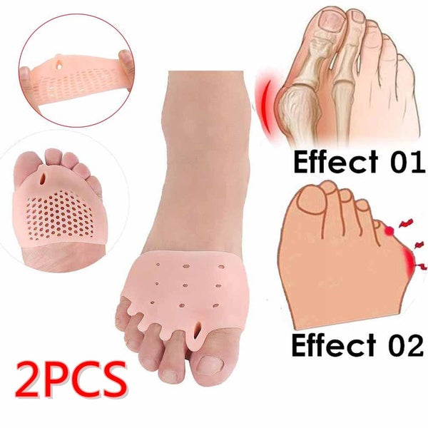 2PCS Elastic Splitter Protector Bunion  Toe Corrector Pain Relief Toe Separator Foot Care