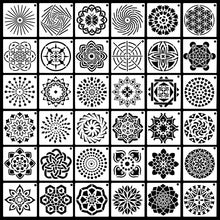 Load image into Gallery viewer, 36 Pack Mandala Dot Painting Templates Stencils Perfect For Diy Rock Painting Art Projects (3.5X3.5Inch)