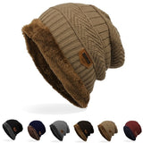 Soft Foreign Trade Labeling Knitted Cap Velvet Wool Cap Winter Outdoor Ski Cap