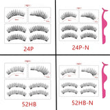 Magnetic Eyelashes with 3 Magnets Handmade 3D/6D Magnetic Lashes Natural False Eyelashes Magnet Lashes