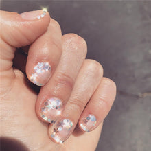 Load image into Gallery viewer, 1 Case Holographic Nail Art Paillettes Unicorn Mermaid Nail Sequins Mixed Shaped Star Moon Nail Paillette DIY Heart Flower Triangle Clear Nail Art Glitter Salon Tip Manicure Decoration