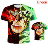 Summer Hot Men and Women Shirt Anime 3D Print Black Clover T Shirts Short Sleeve Tops