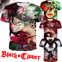 Load image into Gallery viewer, Summer Hot Men and Women Shirt Anime 3D Print Black Clover T Shirts Short Sleeve Tops