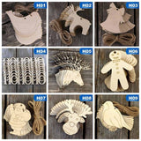 10Pcs Wooden Snowman Pendant Christmas Tree Hanging Ornaments Xmas Decorations For Party Wedding Office School Jewelry Ornament Halloween