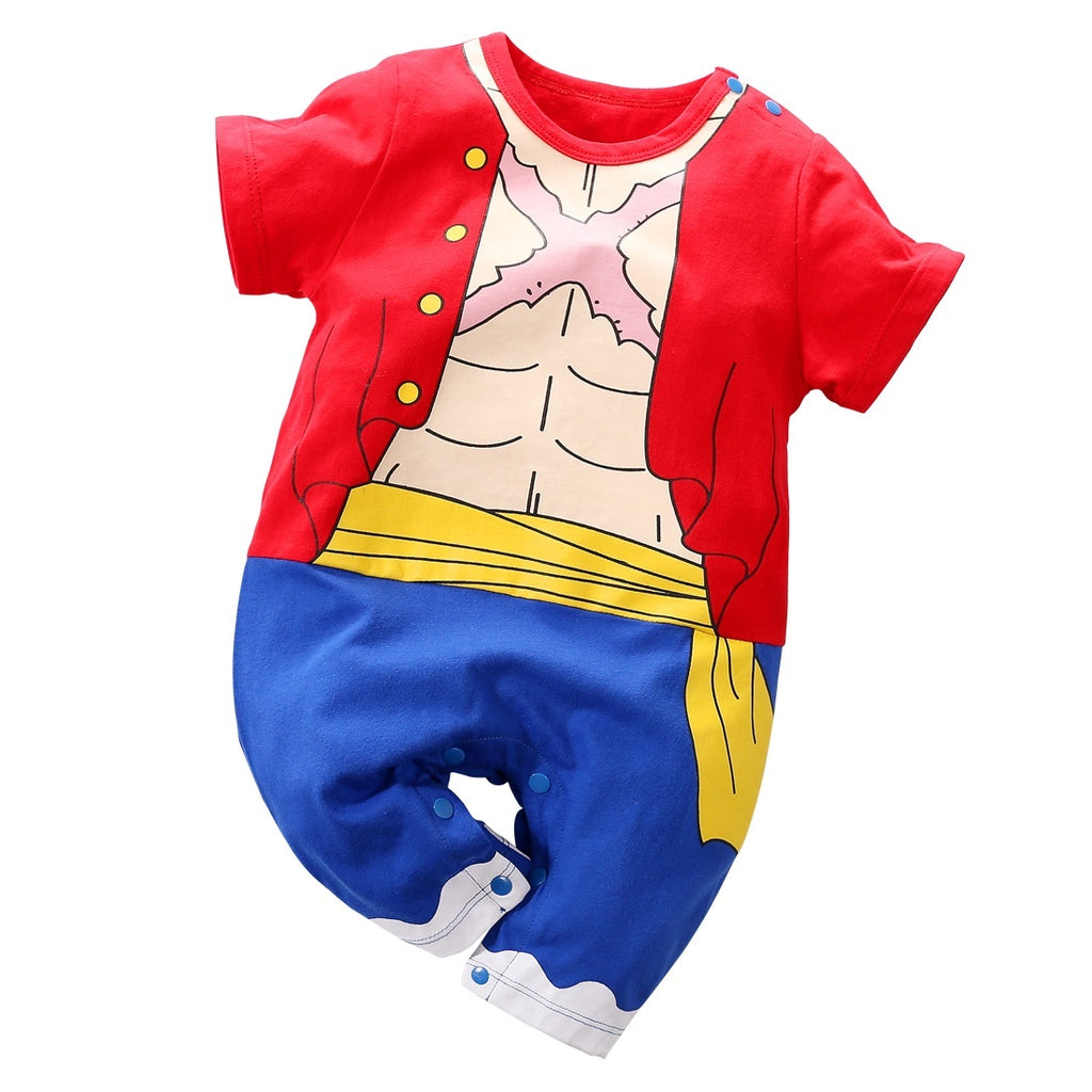 Cute Unisex Baby Boys Girls Clothes Short Sleeve Dragon Ball Z,One Piece,Naruto,Goku,Vegeta Outfits Newborn Infant Jumpsuit One Piece