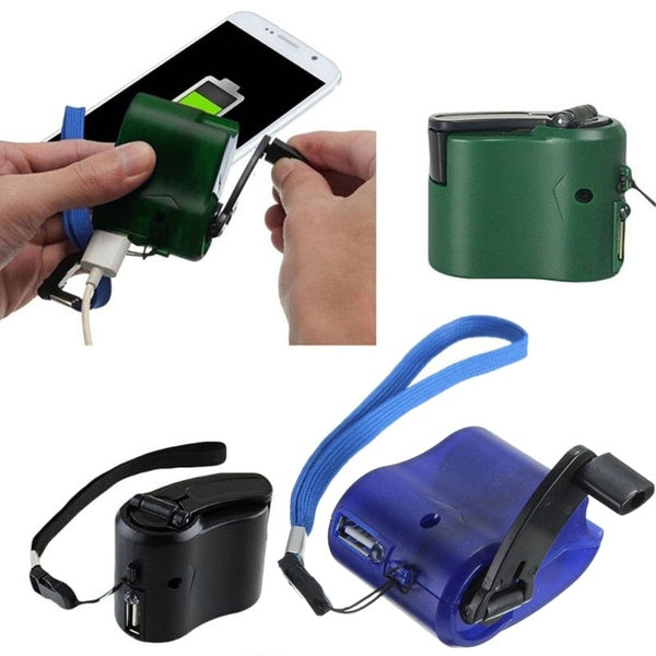 Outdoor Portable Universal Dynamo Charger Hand Cranking USB Port Output Cell Phone Emergency Charger
