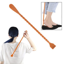 Load image into Gallery viewer, 1Pcs 2 in 1  Back Scratcher Shoehorn Multifunctional Long Handled Shoe Horn with Hand Shaped Backscratcher