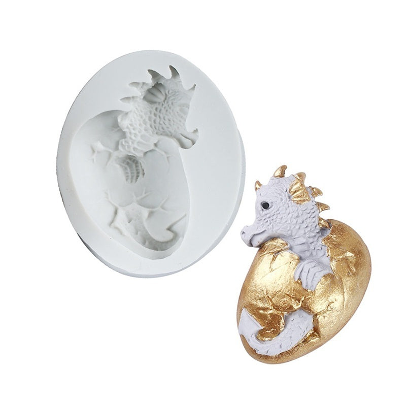 Easter Dinosaur Shape Fondant Cake Silicone Mold Cookies Chocolate Molds Candy Pastry Mould Biscuits Baking Cake Decoration Tool
