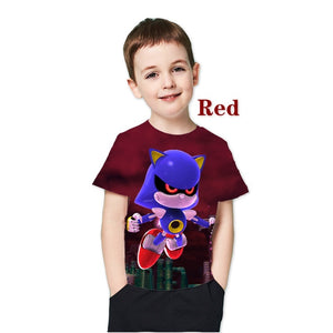 kids t shirt  3D New Sonic The Hedgehog Summer Style Short Sleeve Personality T Shirt for childrens