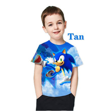 Load image into Gallery viewer, kids t shirt  3D New Sonic The Hedgehog Summer Style Short Sleeve Personality T Shirt for childrens