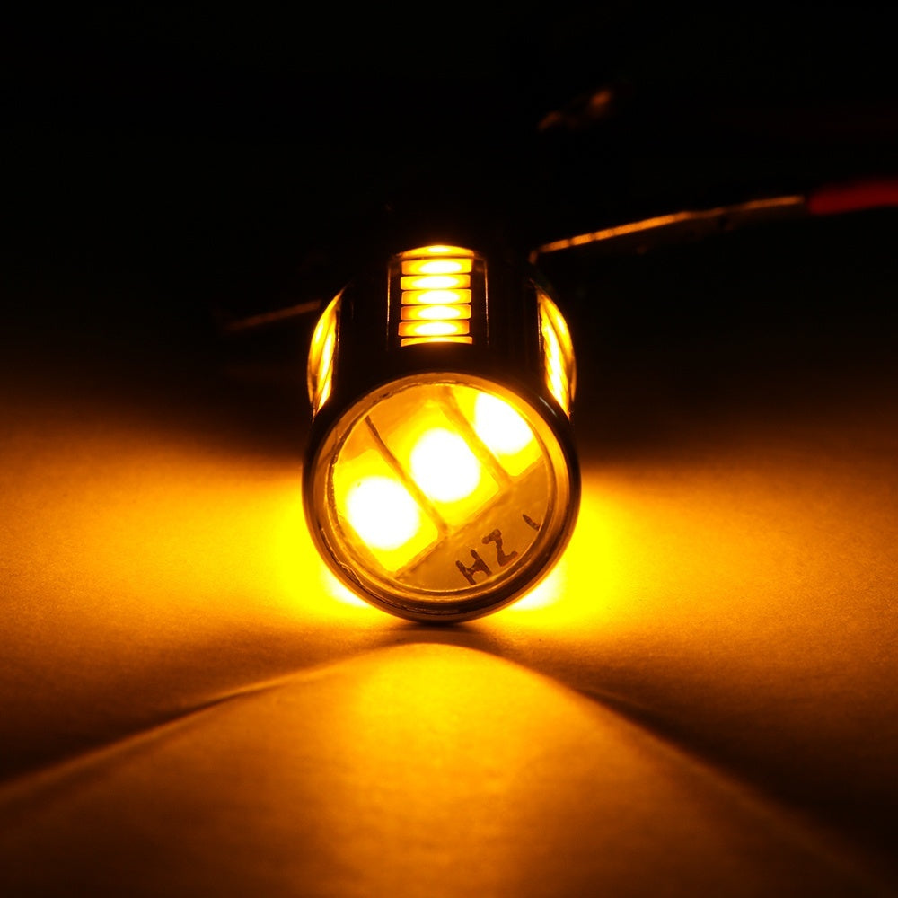 2Pcs Vehicle Parts Turn Signal Amber 150¡ã Turn Signal Bulbs Tail Lights  LED 1156 BAU15S PY21W