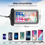 Universal Transparent Waterproof Luminous Mobile Phone Case  Underwater Swimming Waterproof Bag For Beach Vacation No Leakage For Samsung Galaxy/Huawei/iPhone Etc