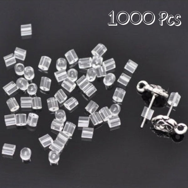 1000 PCs Clear Rubber Earring Back Stopper DIY Jewelry Accessories 3.5mm