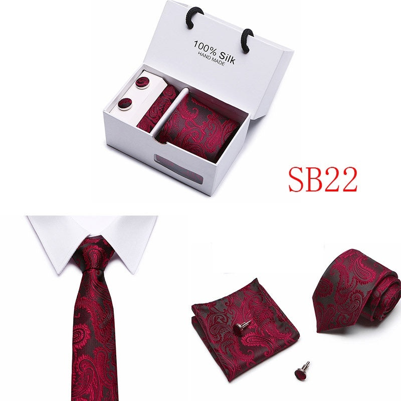 Joy Alice Gift Box Packing Classic 7.5cm Width Floral Paisley Ties Cravate Luxury  Men's Silk Ties For Men Suit Business Wedding Necktie