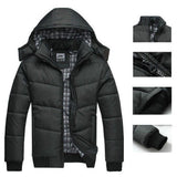 New Autumn&Winter Coat Men black puffer jacket warm overcoat parka outwear cotton padded hooded down coat