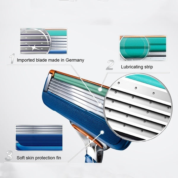New upgraded high quality 5 Layers Men's Shaving Razor Blades Compatible for Shaving Face Care Razor Blade Razor Replacement Heads