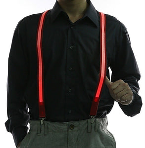 Good Quality Light Up Men's LED Suspenders Bow Tie Perfect for Music Festival Halloween Costume Party