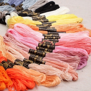 24/36/50pcs Color Multi-Color Embroidery Floss Cross Stitch Threads Sewing Embroidery Thread Home Decor