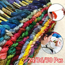 Load image into Gallery viewer, 24/36/50pcs Color Multi-Color Embroidery Floss Cross Stitch Threads Sewing Embroidery Thread Home Decor