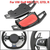 Car Steering Wheel Shift Paddle Extension Auto Aluminium Shift Gear For VW Golf MK7 GTI GTD