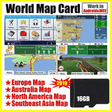 Universal Class 10 High Speed 16G GPS Map TF Card Built-In Navigation Software Built-In Android/WinCE System Navigator/MP5 With Australia + South America Map / Europe + North America Map (Optional)